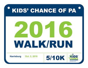The 2016 Kids' Chance Walk/Run logo.