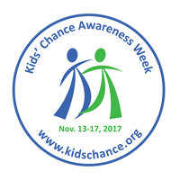 2017 Kids' Chance of America Awareness Week button